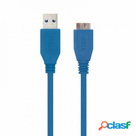 Cable usb 3.0 nanocable 10.01.1101-bl - conectores usb