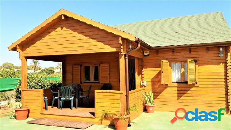 Casa de madera de 61 metros cuadrados con parcela de 3823