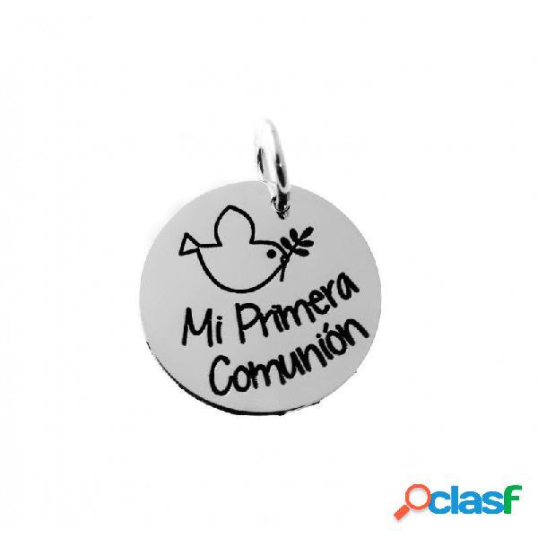 Colgante de plata primera comunión paloma de la paz