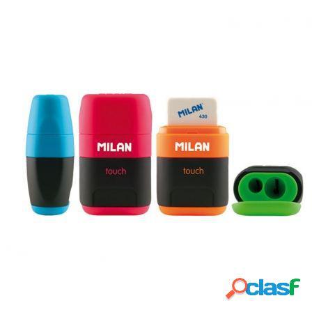 Combinacion de goma y sacapuntas compact touch duo milan -
