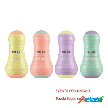 Combinacion de goma y sacapuntas milan sway pastel - colores