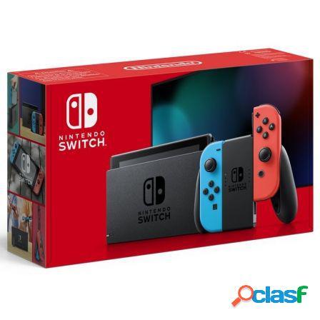 Consola nintendo switch red&blue v1.1 - consola + base + 2