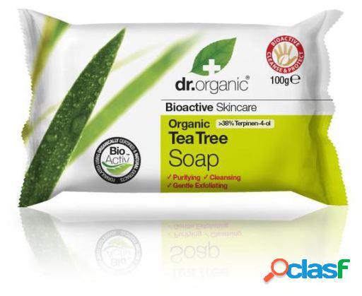 Dr. Organic Jabón en Pastilla con Árbol de Té Orgánico