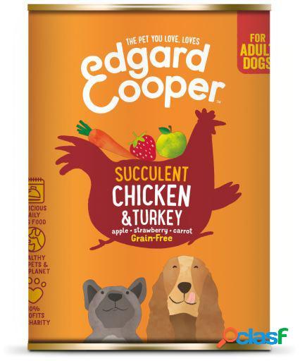 Edgard & Cooper Adult Lata sin Cereales con Pollo y Pavo 400