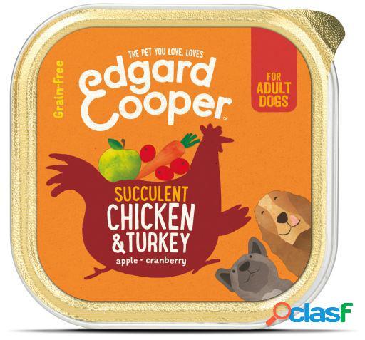 Edgard & Cooper Adult Tarrina sin Cereales con Pollo y Pavo