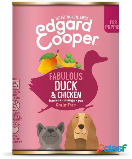 Edgard & Cooper Puppy Lata sin Cereales con Pato y Pollo 400