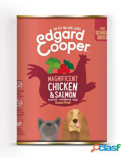 Edgard & Cooper Senior Lata sin Cereales con Pollo y Salmón