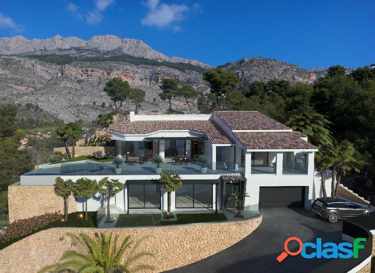Esta villa moderna con vistas