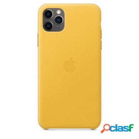 Funda apple iphone 11 pro max leahter case - amarillo