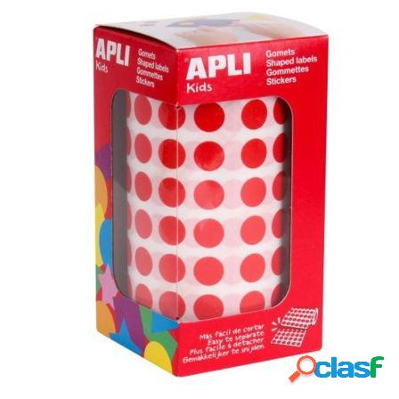 Gomets circulares color rojo en estuche apli 04857 - o 15mm