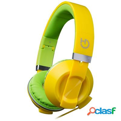 Hiditec Auricular+Mic Cool Kids Amarillo, original de la