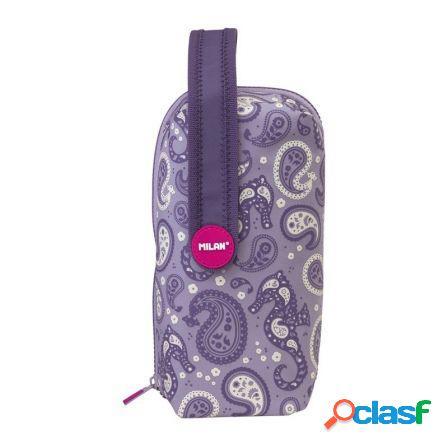 Kit 4 estuches portatodo con contenido milan drops lila -