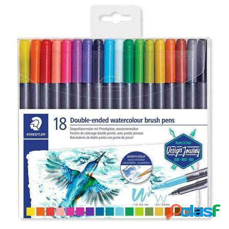 Paquete 18 rotuladores staedtler 3001 tb18 02 - doble punta