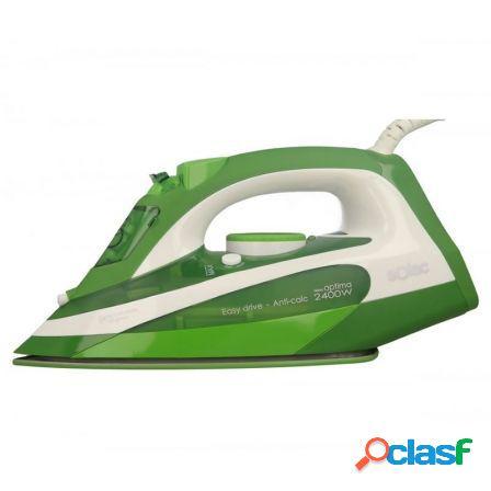 Plancha de vapor solac pv2107 verde - 2400w - vapor continuo