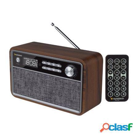 Radio retro sunstech rpbt500wd madera - 2*3w rms - fm - bt