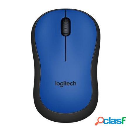 Raton inalambrico logitech m220 silent blue - 2.4ghz - nano