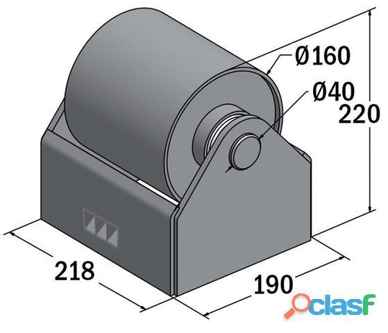 Rodillos 200 mm para soporte rueda contenedor