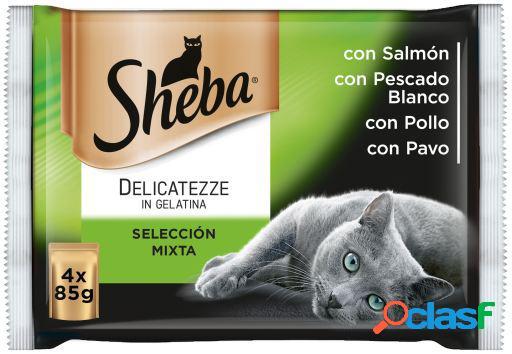 Sheba Multipack 4 Bolsitas Delicatezze para Gatos Selección