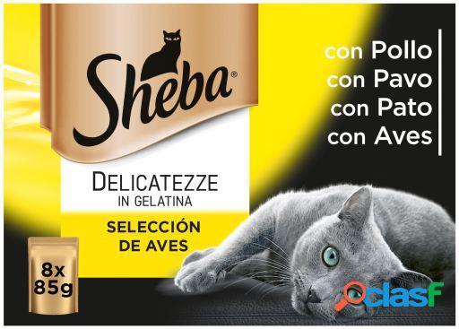 Sheba Multipack 8 Bolsitas Delicatezze para Gatos Selección