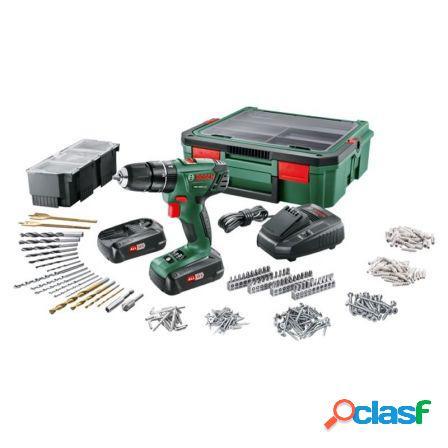 Taladro percutor bosch psb 1800 18v/1.5a + 2 baterias +
