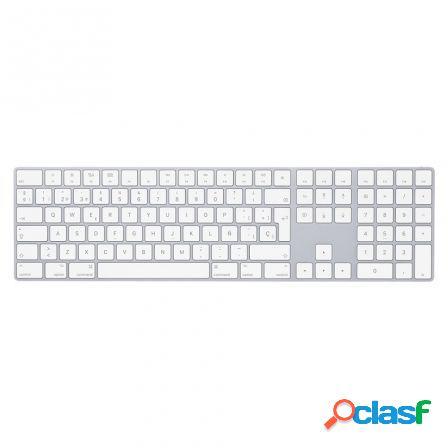 Teclado apple magic keyboard con teclado numerico - mq052y/a