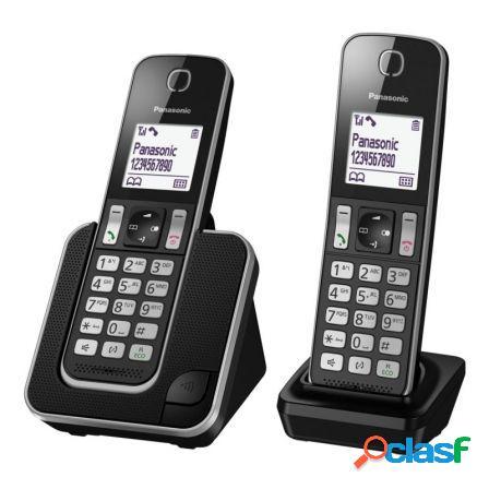 Telefono inalambrico dect panasonic kx-tgd312 negro - pack