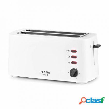 Tostador de pan flama 948fl blanco - 1630w - 2 ranuras extra