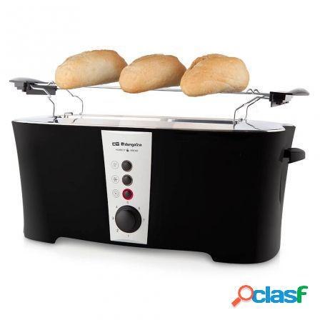 Tostador de pan orbegozo to 6050 - 900w - 1 ranura extra