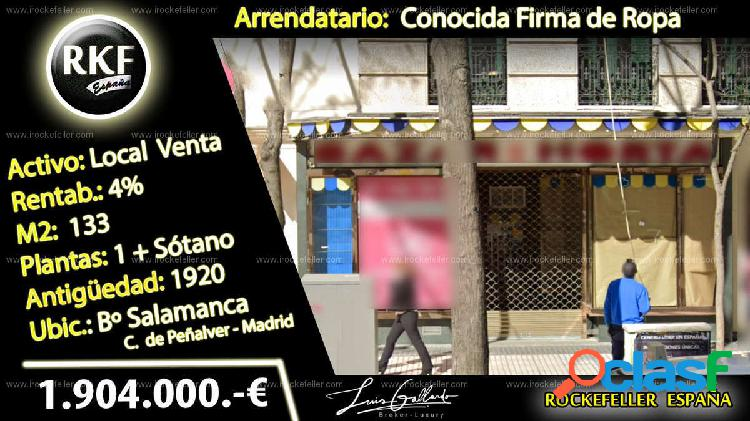 Venta Local comercial - Madrid [228338/Local Rentabilildad]