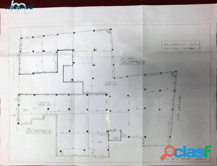 ZONA CALLE SAGUNTO, local comercial de 900 m2 con 5 puertas