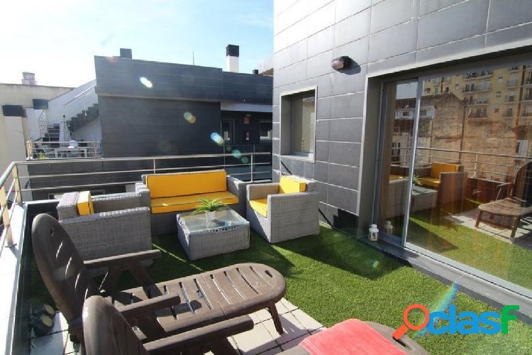 ático con 2 habitaciones, dos terrazas de 18 y 41 m2 garaje