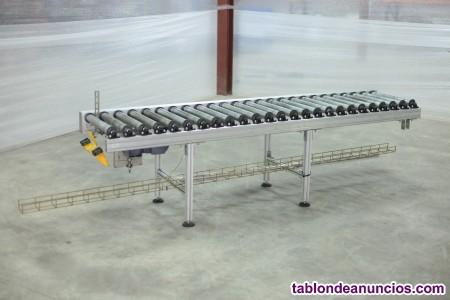 Dos mesas de rodillos automáticas