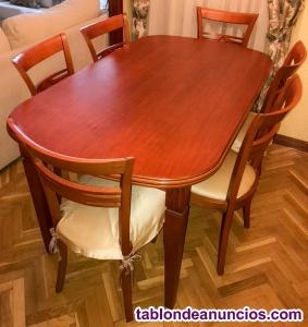Se vende mesa de salón y 6 sillas - ganga