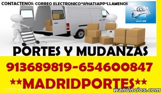 MUDANZAS EN MADRID CAPITAL CON DESCUENTOS - Madrid