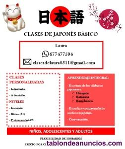 Estudiante de japonés da clases particulares de japonés
