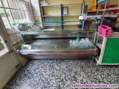 Maquina expositora y de refrigeración horizontal