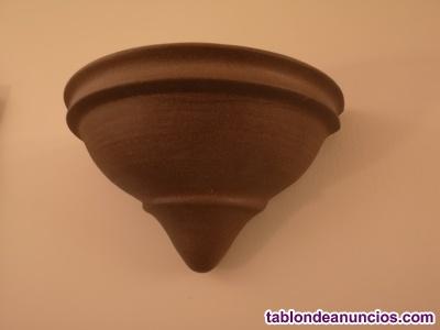 Lámparas hierro forjado cerámica