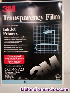 Transparencias para impresoras de inyección