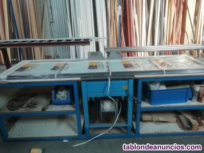 Conjunto de maquinaria para creación de frentes de armarios