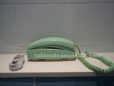 Telefono modelo gondola color verde de pared