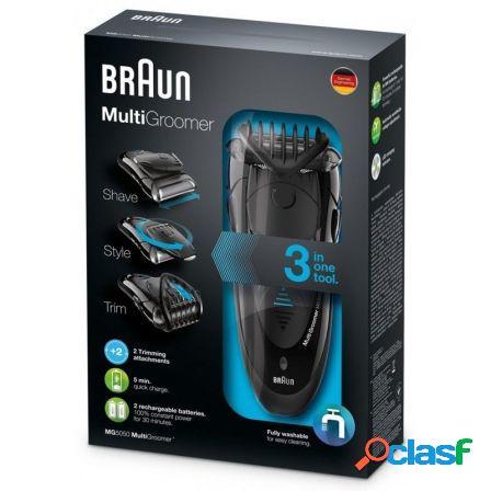 Afeitadora braun mg5050 multigroomer 3 en 1 - afeita/recorta
