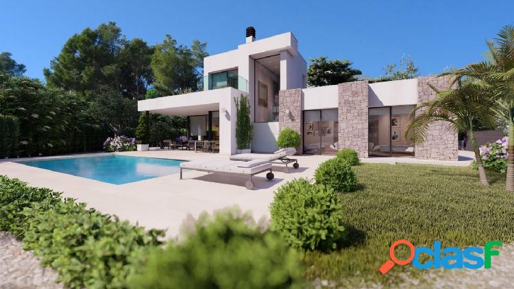Proyecto - Villa de estilo moderno con piscina privada y