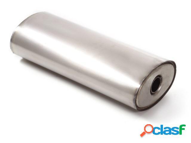 Silencioso universal ovalado en acero inox 220x140 mm -