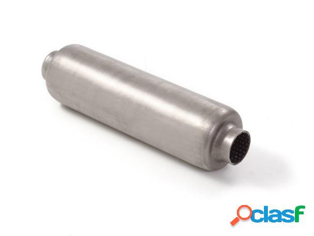 Silencioso universal redondo en acero inox 120 mm - Largura