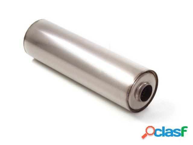 Silencioso universal redondo en acero inox 155 mm - Largura