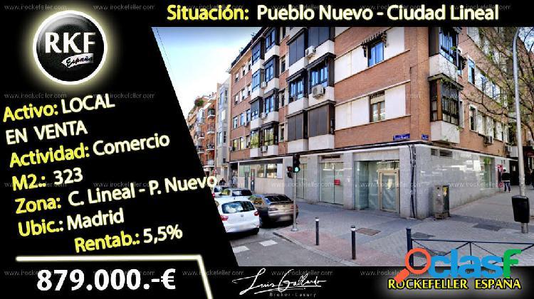 Venta Local comercial - Pueblo Nuevo, Ciudad Lineal, Madrid