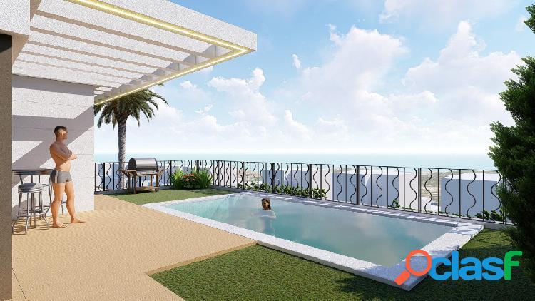 Villas independientes con vistas al mar en Polop (modelo