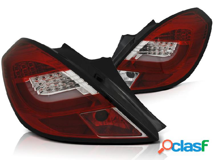pilotos traseros led opel corsa d 3d 04.06-14 red white led