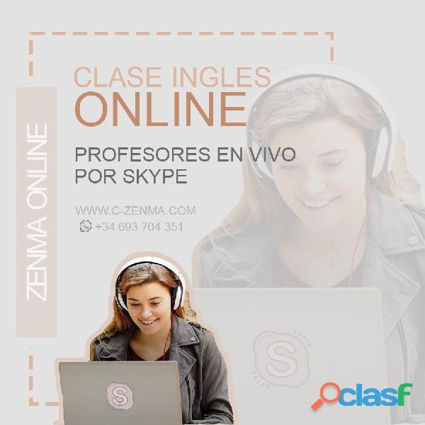 Clases inglés Online (4o minutos / 4,5 euros)