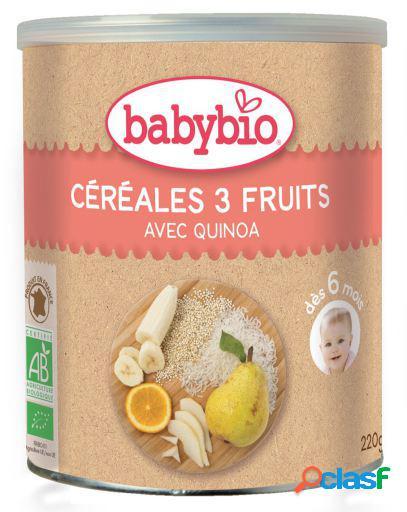 Babybio Papilla Cereales 3 Frutas Quinua 220 gr 220 gr